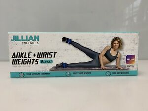 Jillian Michaels Ankle + Wrist weights 2 Lb Set Blue Cardio App 1 Lb Each