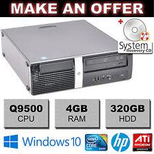 HP Pro 3000 Desktop Computer Quad Core Q9500 2.83GHz 4GB 320GB ATI Windows 10 PC