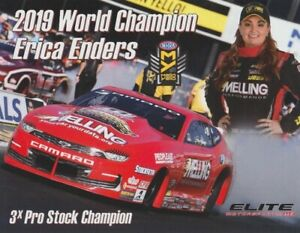 2020 Erica Enders Melling Chevy Camaro Pro Stock NHRA postcard