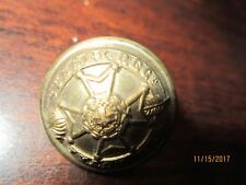 Antique  Brass CANADA Military royal Regiment Button SUSSEX Caunt & Sons