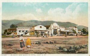 C-1910 Railroad El Ortiz New Santa Fe Hotel Lamy New Mexico Postcard 21-4358
