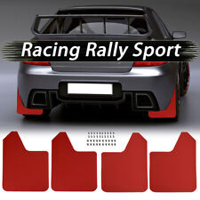 4Pcs Red Universal Mudflaps Mud Flaps Mudguard Splash Guards For Car Pickup SUV