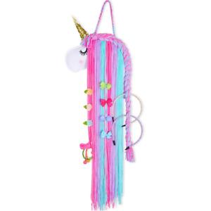 FIOBEE Unicorn Hair Bow Holder for Girls, Hair Clips Headband Organizer Storage