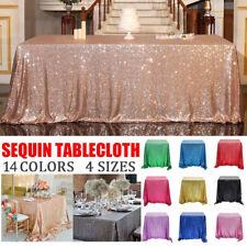 Table Skirt Tablecloth Glitter Sequin Table Cloth Multi-Color Home Wedding Decor