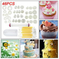 46x Fondant Cake Cookie Sugarcraft Icing Cutter Plunger Decor Baking Tool Mould