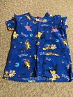 Disney What Shall I be for Halloween Scrub Top, Size Small Pooh/Tigger/Eor