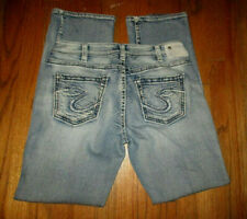 "SILVER JEANS ""Suki High Baby Boot"" Classic Stretch Jeans Tag Sz 32x30-1/2"
