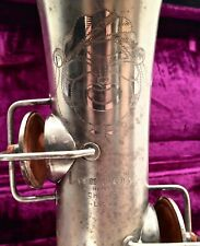 Vintage 1920s Lyon Healy Couturier #200826 Clown Face Saxophone W/ Original Case