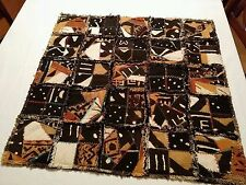 "African Multi-Color Mudcloth  Wall Décor Crazy Patch Quilt  30"" x30"" hand made"