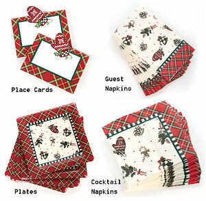 MacKenzie-Childs Courtly Noel Paper Products: Place Cards, Napkins, Paper Plates