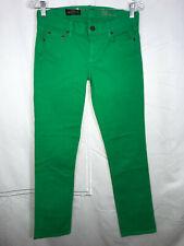 J.Crew Matchstick Size 26 2 Green Denim Pants Skinny Leg Stretch PERFECT Jeans