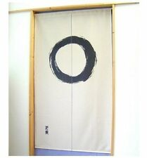 Made in Japan Noren Curtain Tapestry Japanese Taste Enso Circle Beige