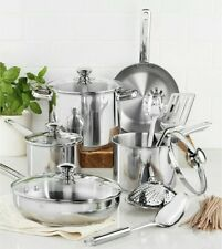 Tools Of The Trade Stainless Steel 13-Pc. Cookware Set Pots & Pans ~NEW In Box~
