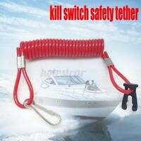 Outboard Engine Motor Tether Cord Lanyard Rope Boat Kill Stop Switch For