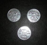 Pirates of the Caribbean Disneyland Disney World Set of 3 Coins