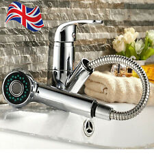 Modern Bathroom Basin Sink Tap Monobloc Mixer Taps Pull Out 360°Faucet Waterfall