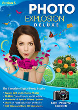Photo Explosion Deluxe 5.0 with Scrapbook Factory Deluxe 5.0 -Sealed-