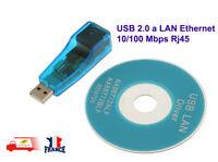 USB 2.0 a LAN Ethernet 10 100 Mbps Rj45 Adaptateur Reseau Network Adapter PC