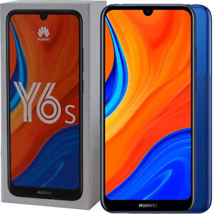 BNIB Huawei Y6S Dual-SIM 32GB ROM + 3GB RAM Blue Factory Unlocked 4G SIMFree