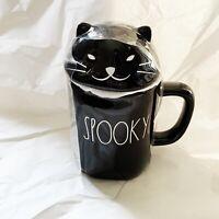 Rae Dunn By Magenta Halloween SPOOKY Black Mug Cat Lid Topper New 2020 HTF RARE