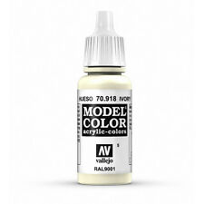 Vallejo Model Color: Ivory - VAL70918 Acrylic Paint 17ml Bottle 005