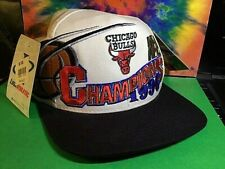 VTG 1996 CHICAGO BULLS CHAMPIONSHIP HAT CAP SNAP-BACK NBA/Jordan