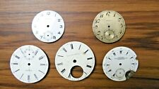 5 Vtg Pocket Watch Face Elgin Standard Longines Mixed Parts Or Repair As Is