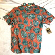 Reef Mens Button Down Shirt Large- Floral Print