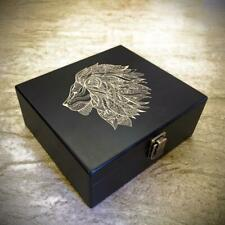 The Bluntly O.G 'Simba' Lion Wooden Stash Storage Box Weed Herb Storage Accessor