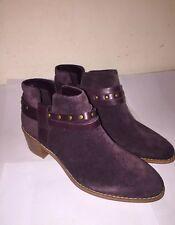 """BRECCAN SHINE""Clark's Women/Ladies AUBERGINE Suede Boots"