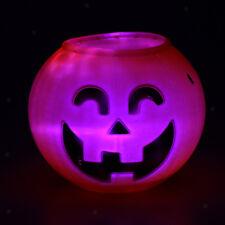 Halloween Jack-o Cubo de caramelo, soporte de mesa De Luz-Up Caramelo Tazón de la cesta