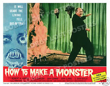 HOW TO MAKE A MONSTER LOBBY SCENE CARD # 1 POSTER 1958 ROBERT H. HARRIS AIP