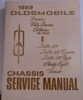 1969 Oldsmobile Shop Service Manual Original Chassis