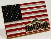 President Donald Trump American Flag Lapel Pin White House w/ Raised Signatures