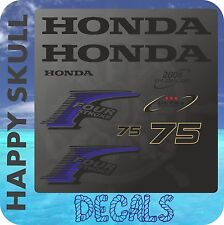 Honda 75 hp Four Stroke outboard engine decal sticker set reproduction