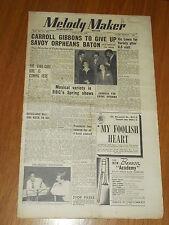 MELODY MAKER 1950 #868 MAR 25 JAZZ SWING CARROLL GIBBONS VIC LEWIS ROSE MURPHY