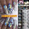 3D AB Diamond Gems Nail Glitter Rhinestone Glass 12 Grid Crystal Nail Art Decor