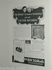 1939 RCA VICTROLA RECORDS advertisement, RCA Victor record changer