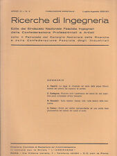 RICERCHE DI INGEGNERIA - anno III - bimestrale n. 4 - luglio/agosto 1935