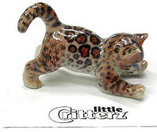 ➸ LITTLE CRITTERZ Cat Miniature Figurine Bengal Spotted Cat Kitten Simba