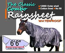 "Comfort The Classic Paddock Rainsheet Horse Combo Rug 6'6""v"