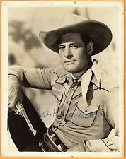 Charles Starrett -signed photo-26 This is a Vintage Photo! - JSA COA