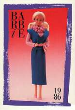 """Barbie Collectible Fashion Card """" Twice As Nice Reversible Fashions """" 1986"""