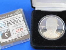 Highland Mint Jeff Bagwell Proof Silver Art Medal MLB E2806