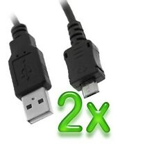 2x Micro USB Data Cable for Samsung Galaxy Note, Note 2, S3, S2, S4, S3 Mini HTC