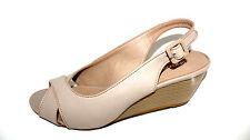 GRACELAND Nude Wedges Slingbacks Pumps Damen 41 UK 7,5 Sommer Schuhe Klassik NEU