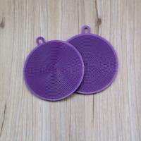 Silicone Dish Bowl Scouring Pad Magic Cleaning Brush Washing Kitchen Tool