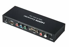 HDMI to VGA/Ypbpr+R/L/SPDIF Converter 1080p Video Audio RCA L/R 1080P