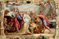"""stunning oil painting  handpainted on canvas """" Briseis restored to Achilles """""""