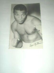 postcard Original Photos , boxing  boxe , RAY SUGAR ROBINSON